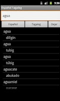Screenshot of Spanish Tagalog Dictionary