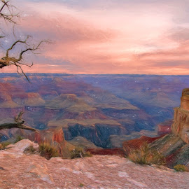The Grand Canyon by Ferdinand Ludo - Painting All Painting ( inspiration, beautifl colors, sunset, so grand, grand canyon )