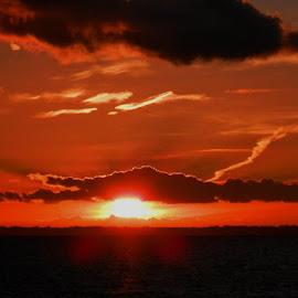 Sunset over Denmark this afternoon...28-10-2012 by Jonathon Larkham - Landscapes Sunsets & Sunrises