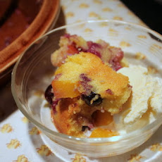 Summer Cornmeal Slump with Mango and Blueberry