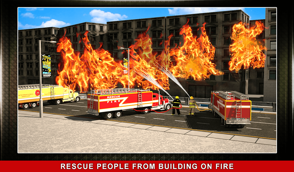 911 Rescue Fire Truck 3D Sim Screenshot 12