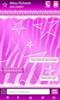 Screenshot of Purple Polka Dot Zebra Go SMS