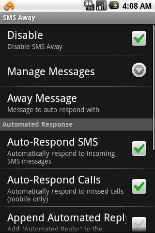 SMS Away