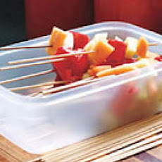 Melon Skewers with Orange-Lime Marinade