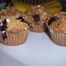 Banana-Blueberries Crumb Muffins