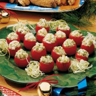 Crab Stuffed Cherry Tomatoes Appetizer Recipes