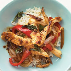 Chicken and Basil Stir-Fry