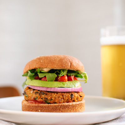 Sweet Potato & Black Bean Veggie Burgers