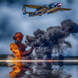 Bombs Away by Ron Meyers - Transportation Airplanes
