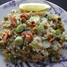 2bleu's Lemony Rice With Peas (Risi E Bisi)