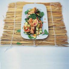 Stir-fried Warm Salad Of Prawns & Baby Courgettes