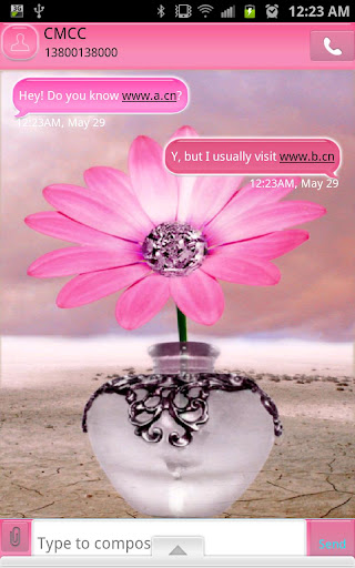 GO SMS - Diamond Flower