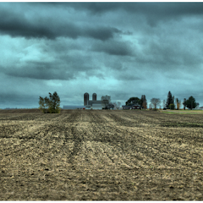 I Can See For Miles Away by Michael Priest - Landscapes Prairies, Meadows & Fields ( field, farm, wisconsin, barn, spring )
