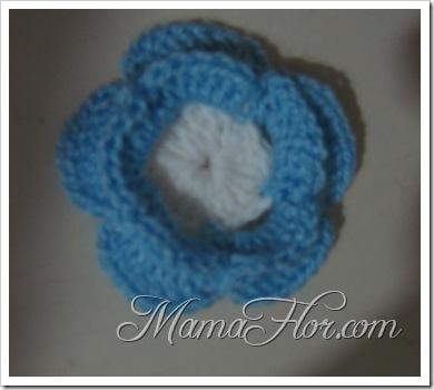 Tejidos a Crochet: Rosa Bicolor…