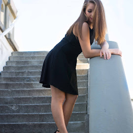 Little Black Dress by Stefanie Jones - People Fashion ( urban, fashion, sexy, legs, black dress )