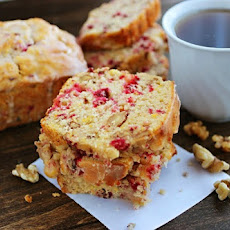Cranberry Bread with Orange Glaze