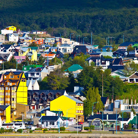 Ushuaia colour by Mike O'Connor - Buildings & Architecture Homes ( colour, ushuaia, buildings, vibrant, architecture )