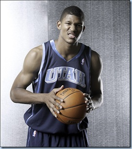 Morris Almond at the Official NBA Rookie Photo shoot back in 2007