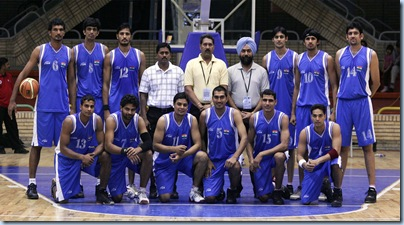 India's national basketball team . . . the Young Cagers, apparently. Trideep Rai (12) is their best player, a 6'3 small forward who is true to his name, can hit threes from deep