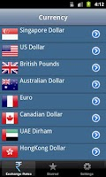 Screenshot of Indian Rupee Exchange Rate