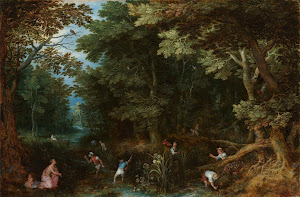 RIJKS: Jan Brueghel (I): Latona and the Lycian Peasants 1605
