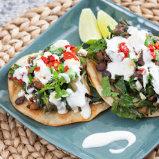 Smoky Swiss Chard & Black Bean Tostadas