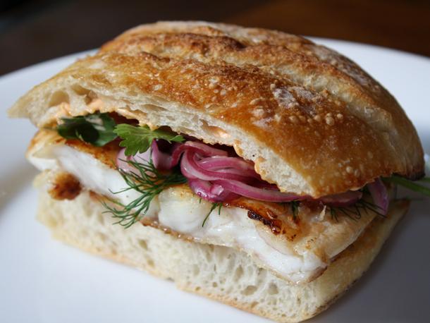 Flounder Sandwich Marinated in Fish Sauce, with Sriracha Mayonnaise ...