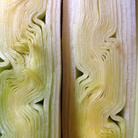 Inside of leek ... Cool looking? by Helene Paz - Food & Drink Fruits & Vegetables