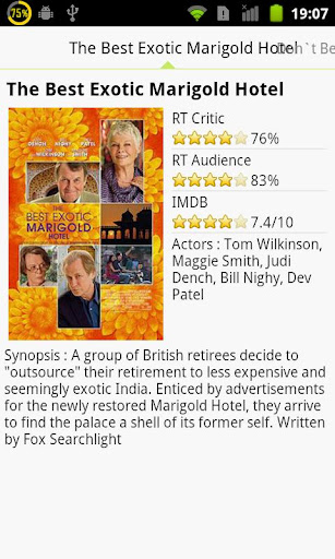 moviefreak-movie-reviews for android screenshot