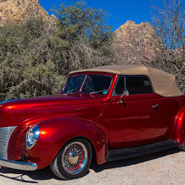 Desert Beauty by Ron Mullins - Transportation Automobiles ( soft top, restoration, desert, convertable, ford, antique )