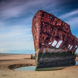 Ship Wreck by Willie Forde - Transportation Boats ( meath, ireland, ship.wreck, beach, irish, boat )