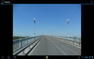 Screenshot of USB camera as rearview camera