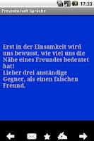 Screenshot of Freundshaft Sprüche