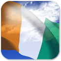 3D Ivory Coast Flag + icon
