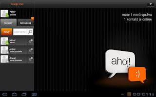 Screenshot of Orange chat