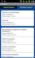 Screenshot of NIH HUG Expo 2011