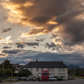 clouds over house by Benny Høynes - Landscapes Cloud Formations ( cloudes, weather, storm, sun, norway )