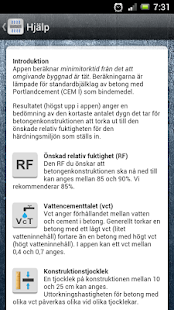 Betongtorkning - screenshot