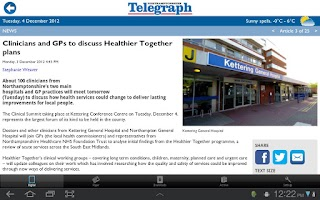 Screenshot of The Northamptonshire Telegraph
