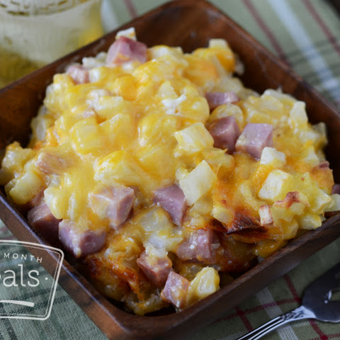 Cheesy Potatoes and Ham