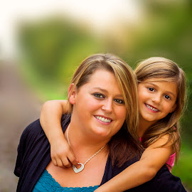 Mother and Daughter by Chynne Graham - People Portraits of Women ( nature, sunset glow, outdoor, southwest iowa, daughter, gorgeous light, landscape, mother-daughter, people, mom, united states, chynne sue photography )