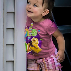 Bella by Esther Lane - Babies & Children Children Candids ( child, laughing, girl, peeking, happy,  )