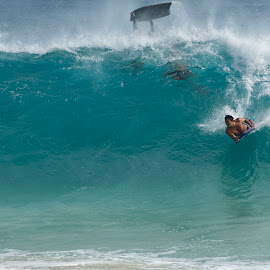 Sandy Beach by Michael Aber - Sports & Fitness Surfing ( sandy beach, wave, ocean, hawaii, bodyboarding )
