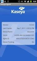 Screenshot of Kaseya Agent