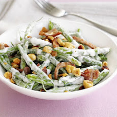 Green Beans With Soured Cream Dressing