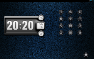 Screenshot of White Clock UCCW skin 3deffect