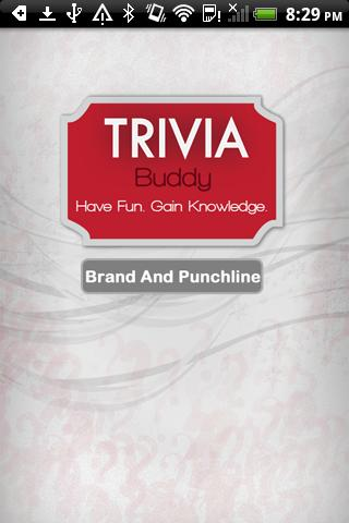Trivia Buddy Brand PunchLine