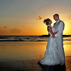 Great Moment in Golden time by Amin Basyir Supatra - Wedding Bride & Groom ( love, bali, prewedding, sunset, wedding, sea, beach, view, Free, Freedom, Inspire, Inspiring, Inspirational, Emotion,  )