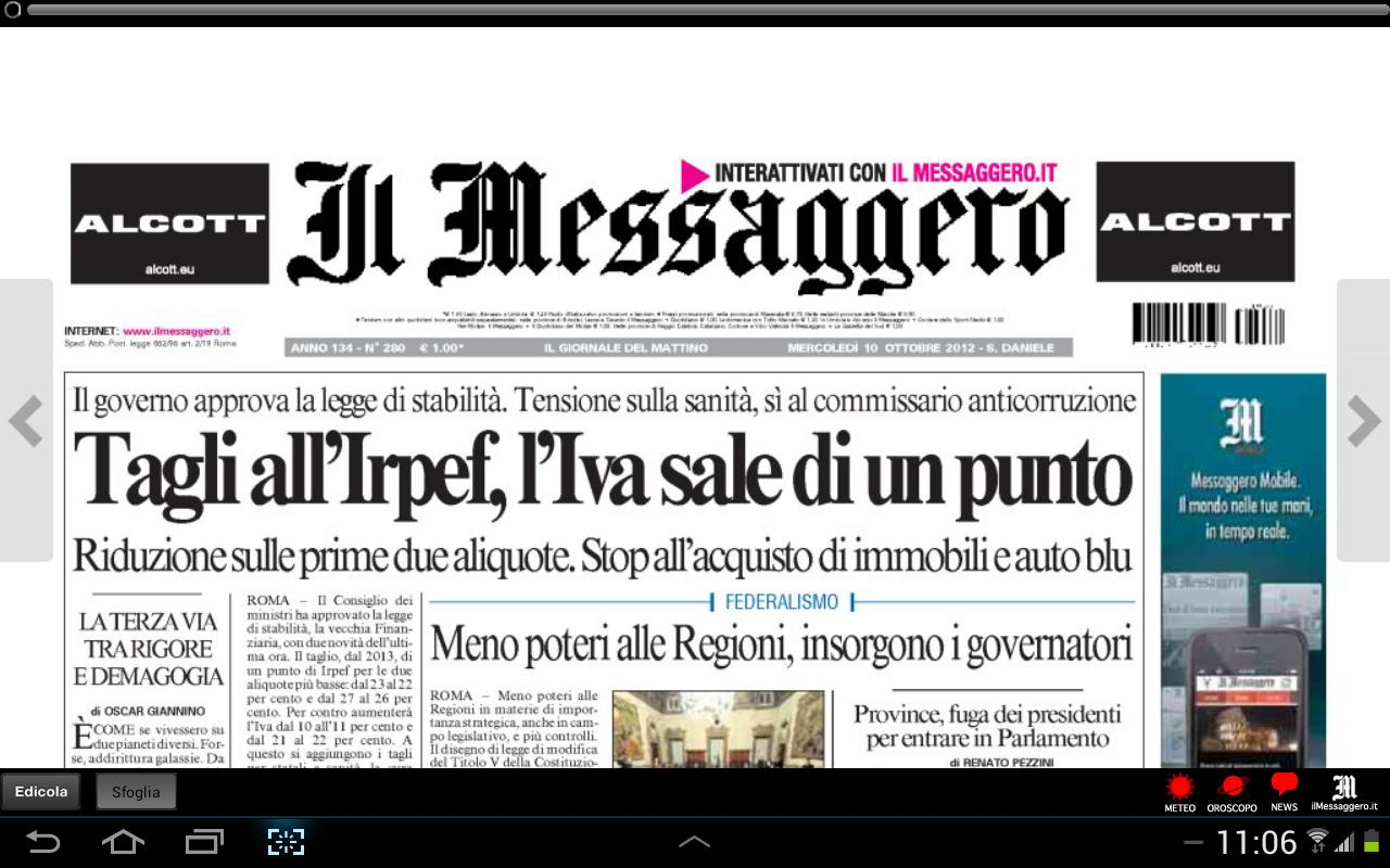 Il Messaggero Digital Screenshot 1