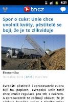 Screenshot of TN.cz